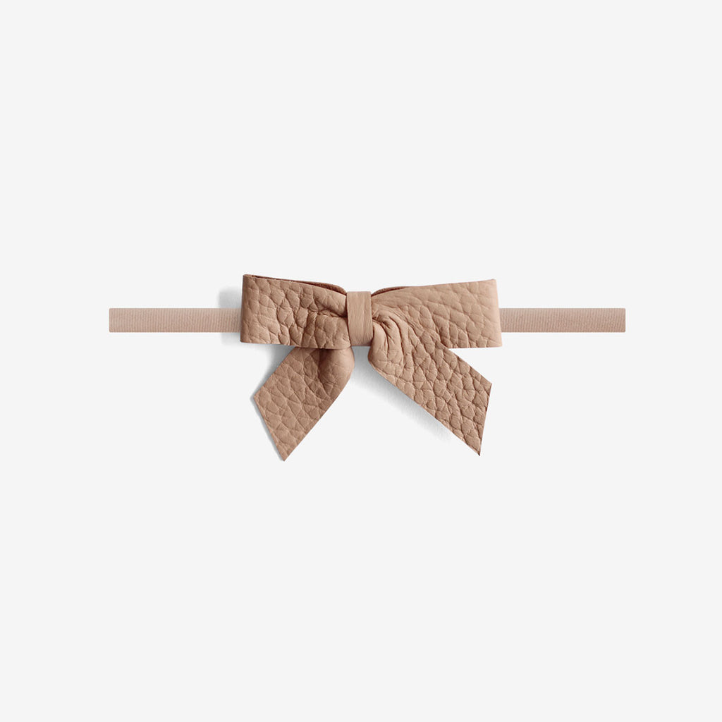 Anne Leather Bow Headband - Earth