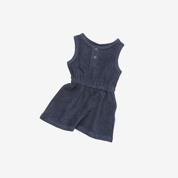 Organic Essentials Terry Play Dress - Ink