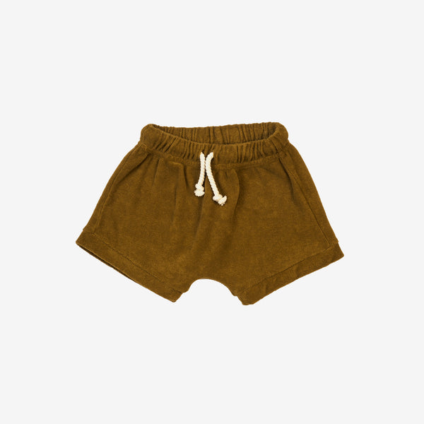 Organic Terry Shorts - Curry