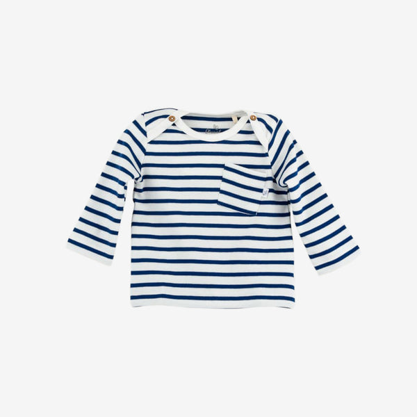Navy Stripe Organic Jersey Tunic - Baby & Toddler