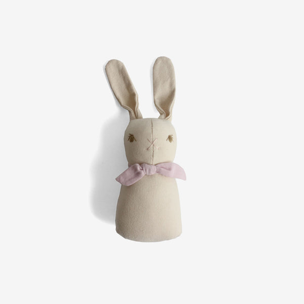 Rabbit Rattle - Cream/Lavender