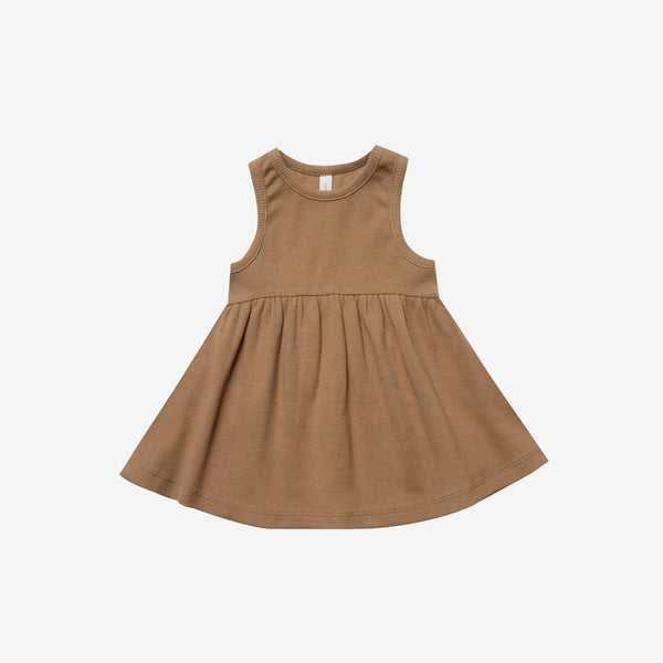 Organic Rib Tank Dress - Copper