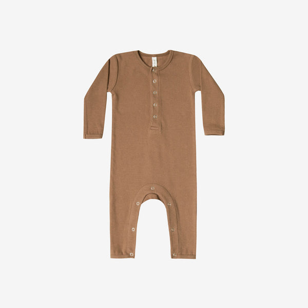 Organic Ribbed Jumpsuit - Copper