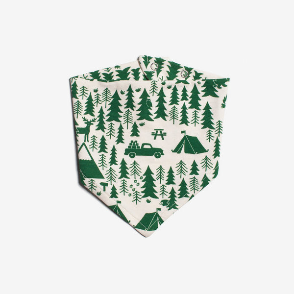 Campground Organic Kerchief Bib - Green