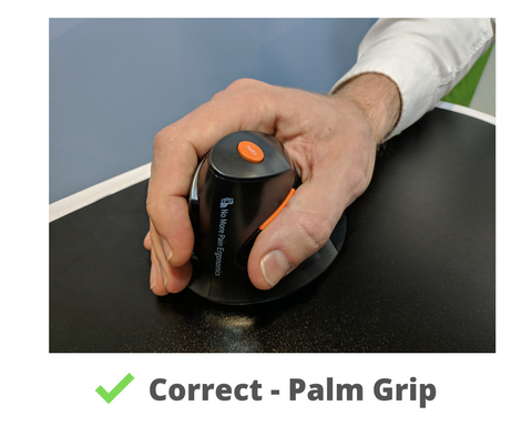 Delux Mouse - Correct Palm Grip