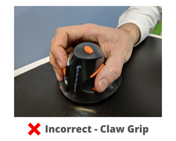Incorrect Claw Grip computer mouse