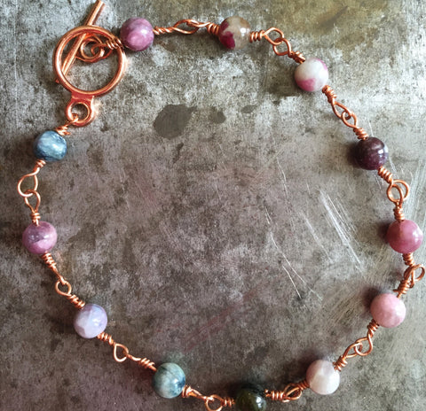 Jasper bracelet in copper
