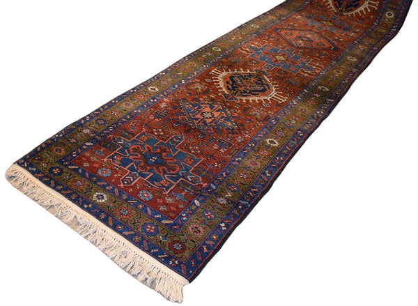 3.4x15.1 Antique Persian Heriz