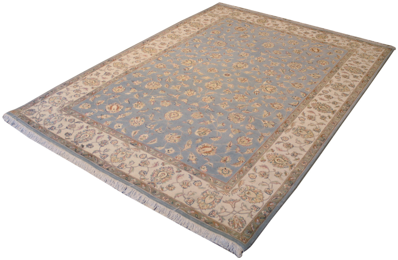 4.11x7 Indo-Persian Wool & Silk