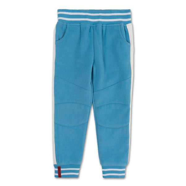 Teddy Varsity Moto Pants (Blue) - Haus of JR