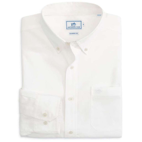 Sullivan's Solid Sport Shirt in Classic White by Southern Tide