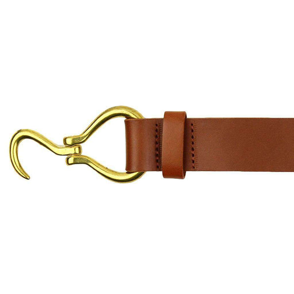 Hoof Pick Leather Belt in Light Brown by Country Club Prep  - 2