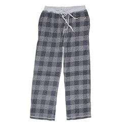 True Grit Melange Buffalo Check Flannel Pant in Charcoal