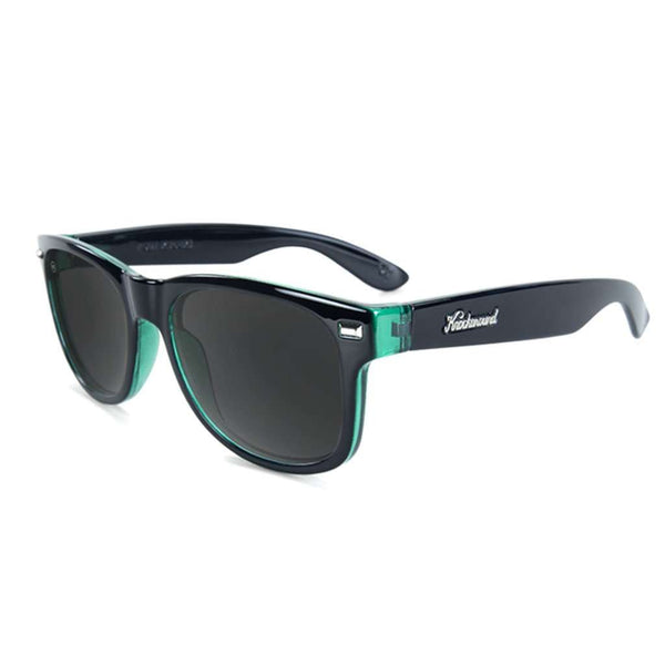 Knockaround Fort Knocks Sunglasses in Glossy Black Sage with Smoke Lenses