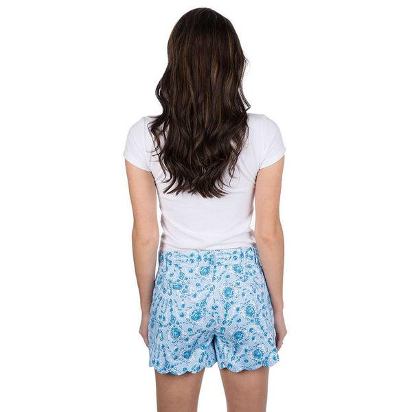 Lauren James Print Scallop Shorts in You're a Gem