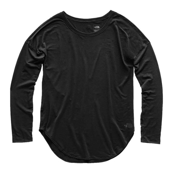 The North Face Women's Long Sleeve Workout Top in TNF Black