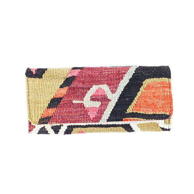 Clutches - Kilim Clutch Purse In Shift Red & Tan By Res Ipsa
