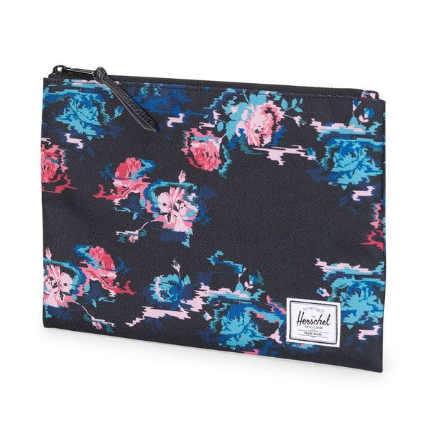 Clutches - Large Network Pouch In Floral Blur By Herschel Supply Co.