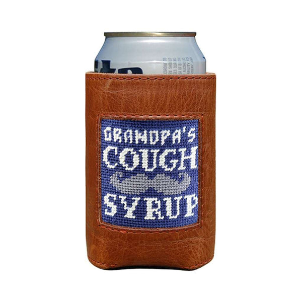 Smathers & Branson  Grandpa's Cough Syrup Needlepoint Can Cooler