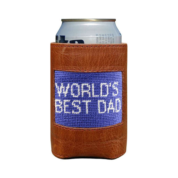 World's Best Dad Needlepoint Can Cooler by Smathers & Branson