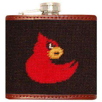 Flasks - University Of Louisville Needlepoint Flask In Black By Smathers & Branson