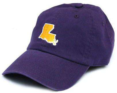Hats/Visors - LA Baton Rouge Gameday Hat In Purple By State Traditions