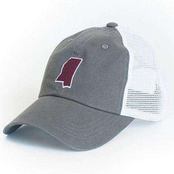 Hats/Visors - Mississippi Starkville Gameday Trucker Hat In Grey By State Traditions