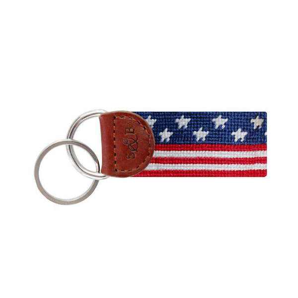 Key Fobs - Old Glory Key Fob In Red, White And Blue By Smathers & Branson