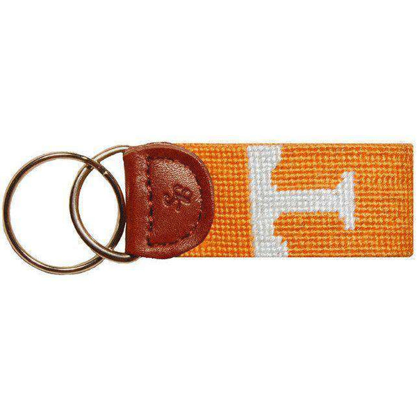 Key Fobs - Tennessee Power T Needlepoint Key Fob In Orange By Smathers & Branson