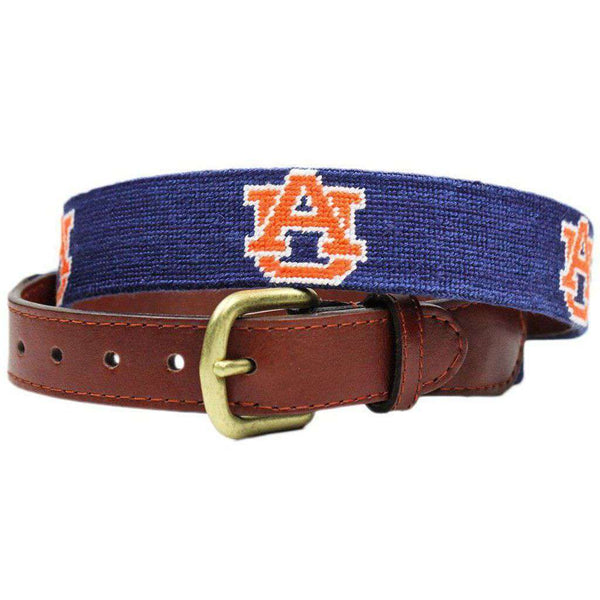 Auburn Needlepoint Belt in Navy by Smathers & Branson