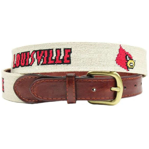 Louisville Needlepoint Belt in Beige by Smathers & Branson