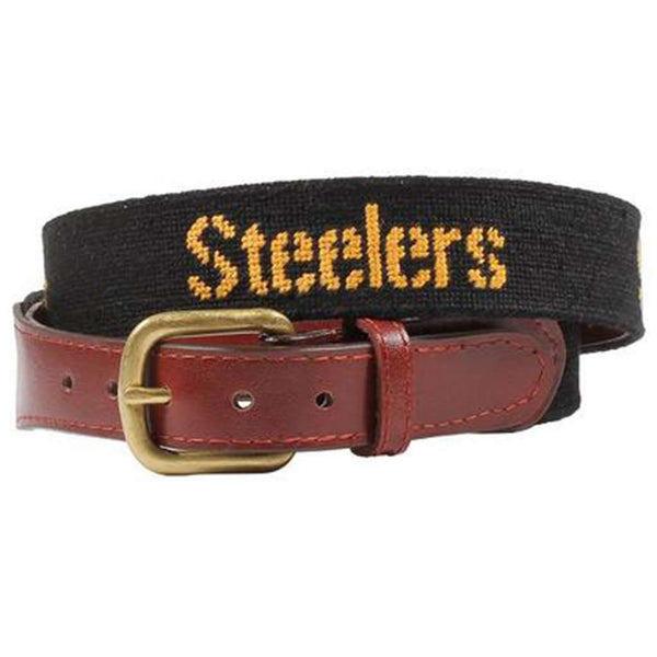 Pittsburgh Steelers Needlepoint Belt by Smathers & Branson