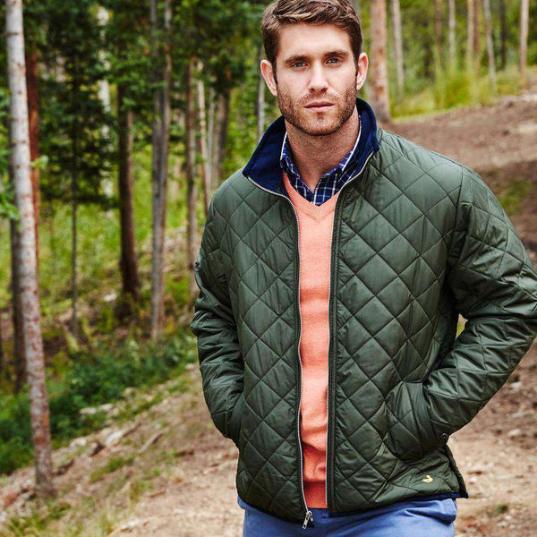 Southern Marsh Marshall Quilted Jacket In Dark Green