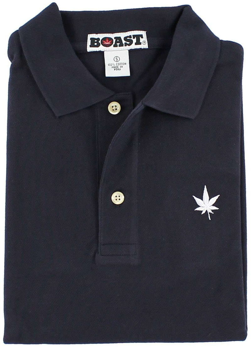 Men's Polo Shirts - Solid Classic Polo In Navy By Boast - FINAL SALE