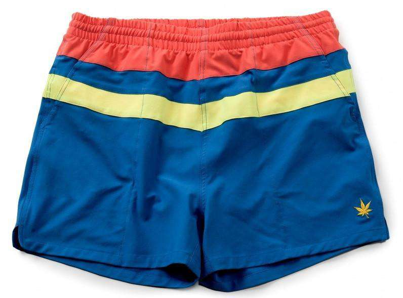 Men's Shorts - Top Stripe Match Shorts In Bright Blue By Boast