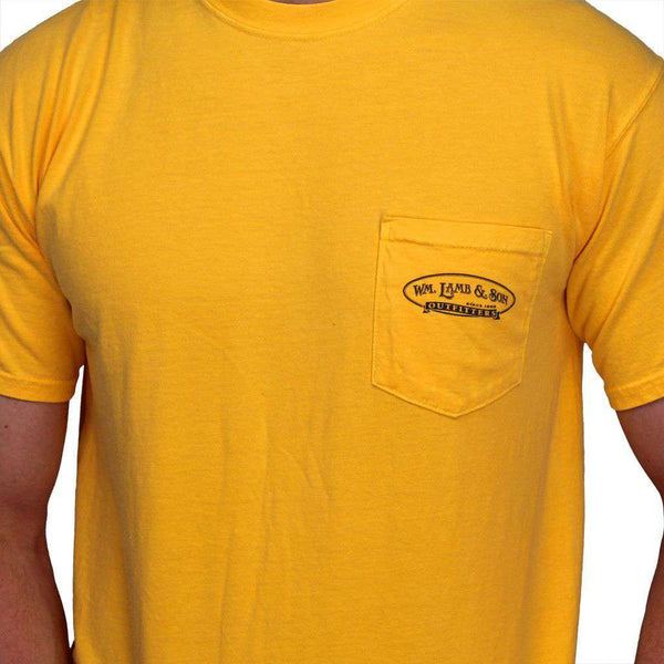 Men's Tee Shirts - The Millionaire Tee In Citrus Yellow By WM Lamb & Son