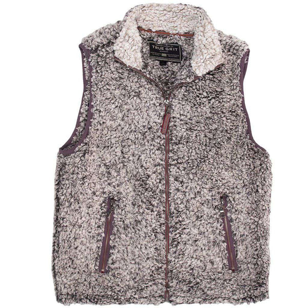 Men's Vests - Frosty Tipped Double Up Vest In Charcoal By True Grit