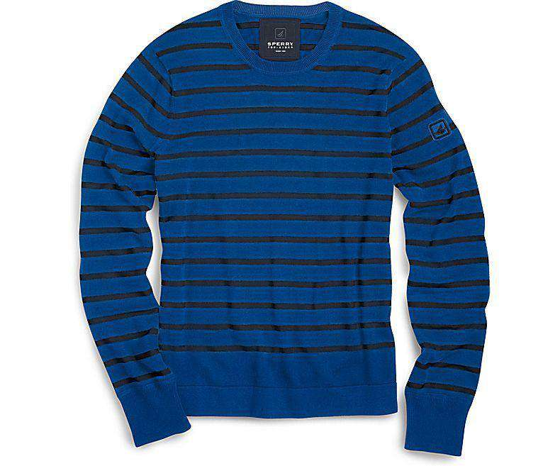 Nautical Stripe Crew Neck Sweater in Blue by Sperry  - 2