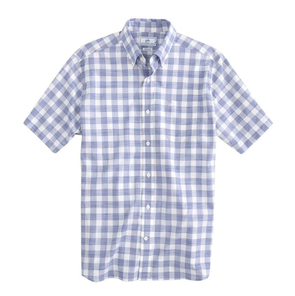 Southern Tide Proclamation Buffalo Check Short Sleeve Button Down by Southern Tide
