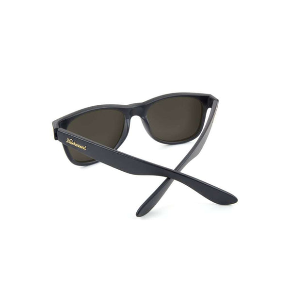 Sunglasses - Matte Black Fort Knocks With Sunset Polarized Lenses By Knockaround