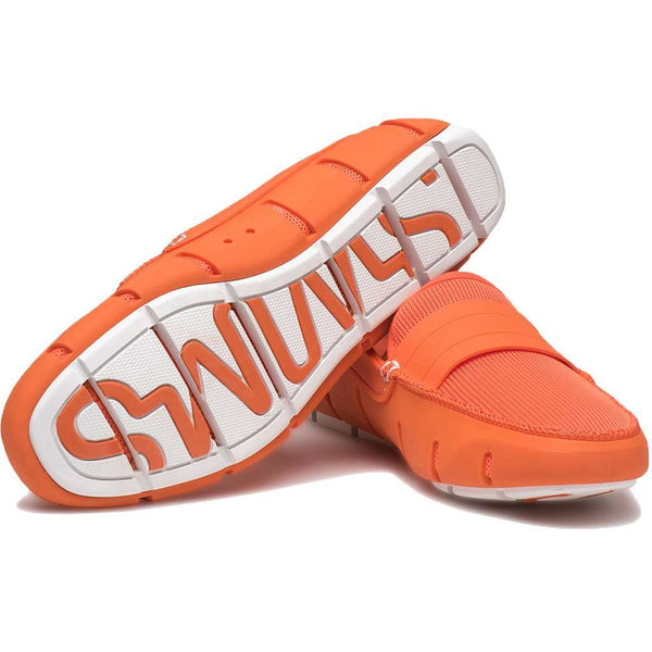 Stride Single Band Keeper Loafer in Orange & White by SWIMS