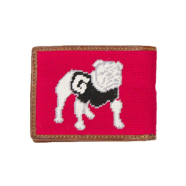 Wallets - Georgia Needlepoint Wallet In Red By Smathers & Branson