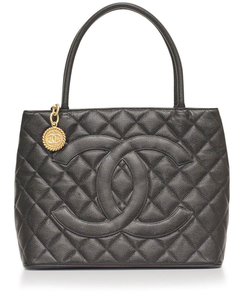 Black Caviar Medallion Tote