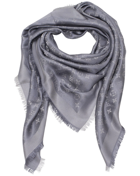 Monogram Grey Shine Shawl