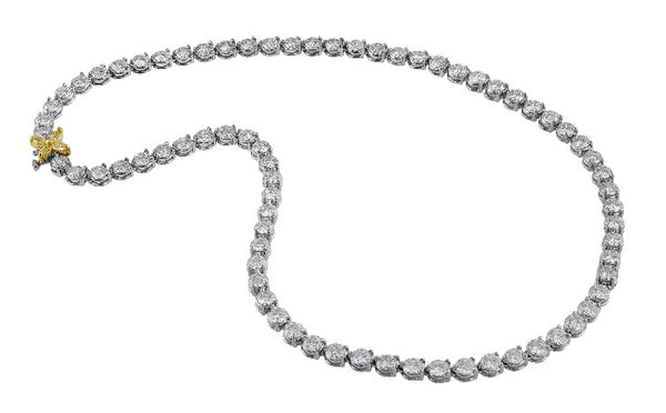 Platinum Riviera 20ct Diamond Necklace