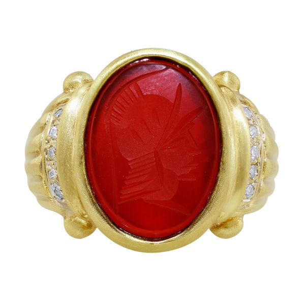 Estate Men's Intaglio Ruby Band