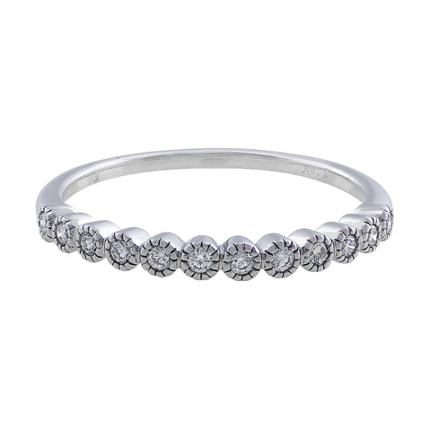 14kt White Gold & Diamond Anniversary Band