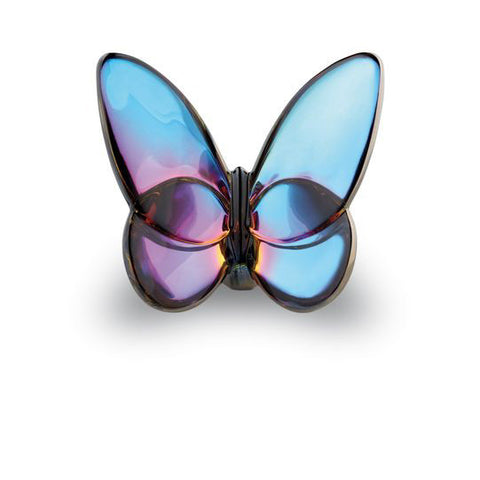 Baccarat Blue Scarabee Lucky Butterfly