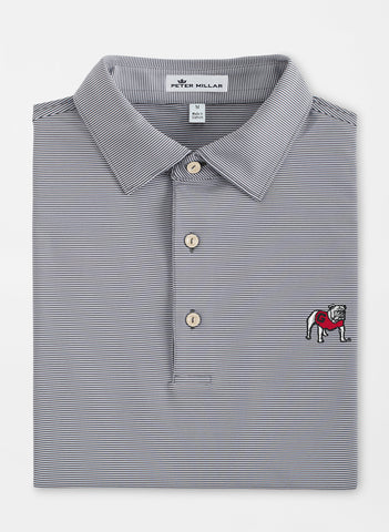 Peter Millar Jubilee Iron Stripe Stretch Jersey Polo - Georgia