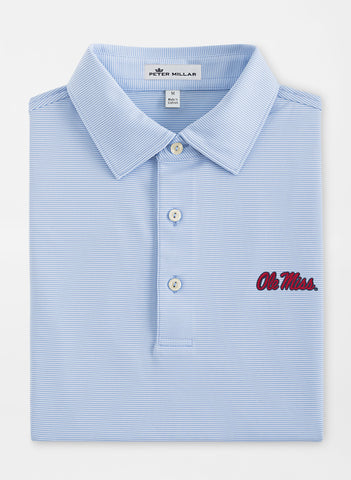 Peter Millar Jubilee Stripe Stretch Jersey Polo - Ole Miss